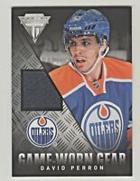2013-14 Titanium GAME WORN GEAR RELIC #GG-DP DAVID PERRON St Louis Blues