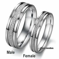 Silver Rings Promise Band Xmas Gifts For Her Him Husband Wife Men Women Son Love