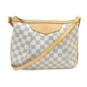Louis Vuitton LV Shoulder Bag N41113 Siracusa PM Whites Damier Azur 1419197