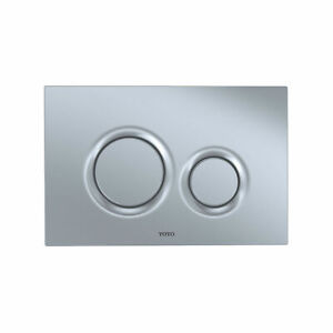TOTO YT930 Dual Button Push Plate - Silver