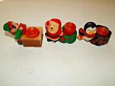 Vtg Jasco Christmas Friend Holiday Candles ~ Handcrafted In China ~ Set Of Three
