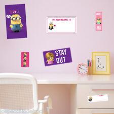 MINIONS  GIRL Wall stickers removibile - Licenza  Ufficiale -WALLMIN61