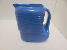 Westinghouse Vintage Refrigerator Ceramics Hall China Co. Blue Pitcher