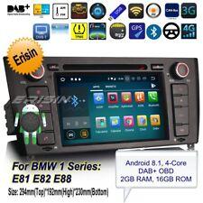 Autoradio Android 8.1 BMW E81 E82 E88 1 Series Navigatore CD DAB+OBD GPS BT 3840