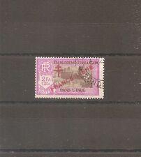 TIMBRE INDE INDIA BUREAUX FRANCAIS FRANKREICH FRANCE LIBRE N°165 OBLITERE USED