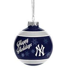 New York Yankees NY Glass Ball Ornament Christmas Tree Holidays MLB