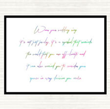 Wedding Ring Rainbow Quote Dinner Table Placemat