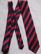 Tie TOOTAL Vintage Mens Necktie CLUB ASSOCIATION COLLEGE 1980s NAVY RED