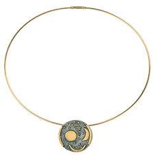 """Kollier / Necklace, """"Himmelsscheibe von Nebra"""", Sterling Silber vergoldet"""
