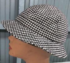 "Blarney Hat From Ireland Houndstooth Wool Bucket Style Hat Cap 22.25"""