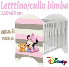 LETTINO CULLA BIMBO 120X60 CM!NUOVA COLLEZIONE DISNEY2016 BABY MINNIE