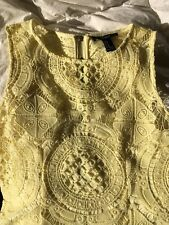 Forever 21 Yellow Lace Body Con Dress Size Medium Vintage ModCloth Style
