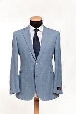 BELVEST Made in Italy Jacket 2Btn Wool Linen Cotton Light Blue 46 US 56 EU 7 R