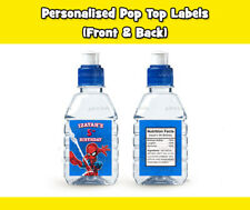 SPIDERMAN POP TOP LABEL STICKERS PARTY LOLLY THANK YOU LOOT BAG CUPCAKE FAVOUR