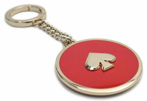 Kate Spade New York Women's Enamel Spade Key Chain FOB Bag Charm - Hot Chili