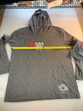 District Made Fit 502 Triathlon T Shirt Hoodie Large L (6560-1)