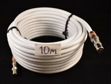 RG6 WHITE Quad Shield 10m Pal Male To Pal Male Cable Coax Antenna TV Flylead