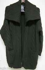 NWT $1998 Ralph Lauren BLACK LABEL 100% Cashmere coat Cardigan Sweater jacket M