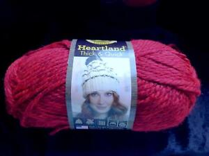 RED LIONBRAND HEARTLAND THICK & QUICK KNITTING YARN NEW LION BRAND REDWOOD #113