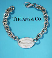 Tiffany & Co Return To Tiffany Oval Tag Sterling Silver Bracelet (New Style)