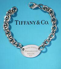 Tiffany & Co Return To Tiffany Argento Sterling tag ovale Bracciale (nuovo stile)
