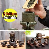 Chinese Real Zisha Purple Clay Tea Set Oriental China Tea Set 9Pcs Tea Pot Cups