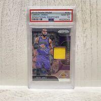 Lebron James 2019-20 PANINI PRIZM SENSATIONAL SWATCHES GEM MINT PSA 10 Lakers