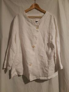 Oska white linen jacket size 4