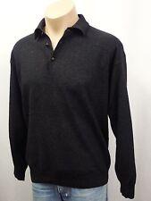AIGNER Designer Pullover Gr.52 Polokragen Wolle mit Kaschmir Grau 3848