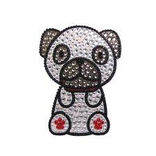 Pug Dog Rhinestone Glitter Jewel Phone Ipod Iphone Sticker Decal