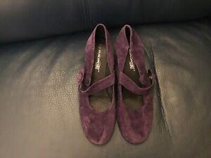 Ladies Purple Suede Shoes UK 7.5/41