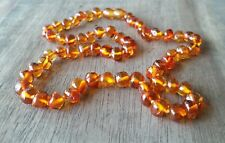 BALTIC AMBER ADULT NECKLACE 45cm - COGNAC - Jewellery Beads + FREE POST