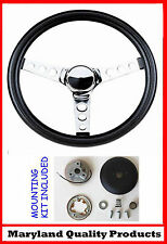 1968 1969 AMC AMX Javelin Grant Black Steering Wheel 13 1/2""