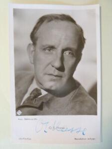 O. E. Hasse † 1978 UfA Autogrammkarte (50ger Jahre)