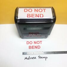 Do Not Bend Rubber Stamp Red Ink Self Inking Ideal 4913