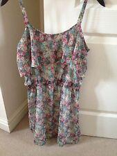 Mango Floral Overlay Dress, Size S.