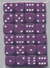 NEW Dice Set of 24 D6 -14 mm Opaque Purple