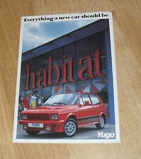 Yugo Range Brochure 1985 - 45 55 311 511 513 - Yugo Zastava UK Market