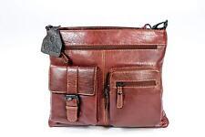 Optio Multi Pocket Leather Messenger