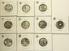 1973 to 2017 Canada 25 Cents Commemorative Lot of 10 Uncirculated #3680