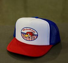 Men's Mr. Horsepower Red White Blue Snapback Trucker Hat w/ Clay Smith Logo: H4