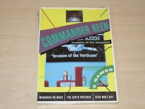 """MINT & SEALED !! Commander Keen - Invasion of Vorticons - PC 3.5"""" Disc"""