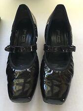Paul Green Munchen Women's Shoes Patent Leather Pumps 7.5 Bordeaux Black