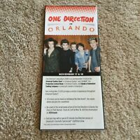 Vintage Universal Studios Florida Park Brochure from One Direction 2014 Mint