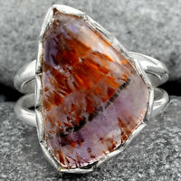 Cacoxenite Super Seven 7 Mineral 925 Sterling Silver Ring Jewelry s.7 AR93169