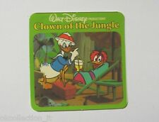 VECCHIO ADESIVO / Old Sticker DISNEY DONALD DUCK CLOWN OF THE JUNGLE (cm 8x8)
