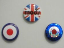 MOD / TARGET bunch of 3 BUTTON BADGES (3) who