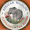 2000 ZAMBIA African Wildlife COLORIZED ELEPHANT 1oz Silver BEFORE SOMALIAN COINS