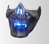 Custom LED skull headlight sidelight for chopper bobber rat bike street fighter