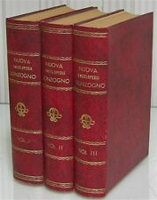 3 vol. NUOVA ENCICLOPEDIA SONZOGNO dizionario enciclopedico storia geografia